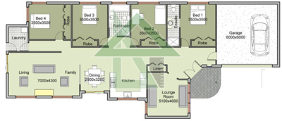 Affordable The Elizabeth Single Storey Our Home Design With Narrow Block Floor Plans