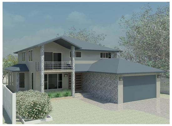 The killalea our home designs for Surface garage double