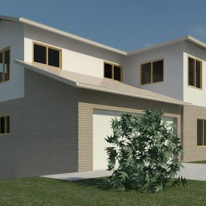 The Cribb Two Storey Home Elevation 3D View 2